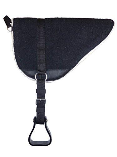 Bareback Pad mit Steigbügeln - Reitkissen - Reitpad - Sattelkissen - Reitkissen schwarz