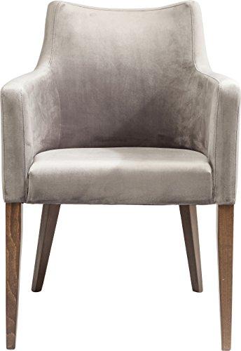 Kare Armlehnstuhl Mode Velvet Grey, moderner, bequemer Esszimmerstuhl, gepolsterter Essstuhl, grau (H/B/T) 87x60x70cm