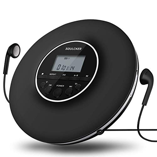 Tragbarer CD Player, MP3-CD Player, Persönlicher CD-Player Tragbar Disman mit Kopfhörern, Compact Music CD Walkman Kleiner CD-Player für Kinder mit Skip-Schutz für CD, MP3 CD, CD-R, CD-RW