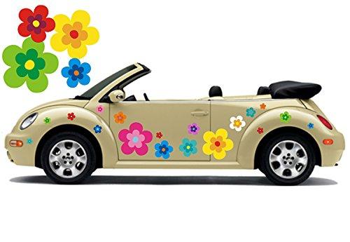 Hippie Blumen Aufkleber, Autoaufkleber Hippie 039 - Bunt Gemischt (16)