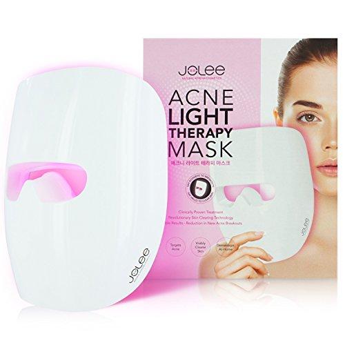 Jolee aknelichttherapie Maske, dermatologisch getestet Therapie, reduziert Akne, Hautunreinheiten und Falten, sichtbare Ergebnisse in 30Tagen, Hautverjüngung