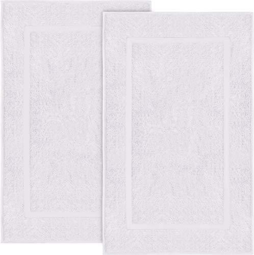 Utopia Towels - 2er Pack groß Badematte Badvorleger, 985 g/m² - 100% Baumwolle Frottee -Waschbare Badteppich (53 x 86 cm) (Weiß)