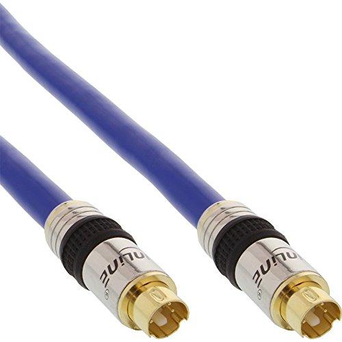 InLine 89959P Premium S-VHS Kabel (4-polig S-Video Stecker auf S-Video Stecker, 15m)