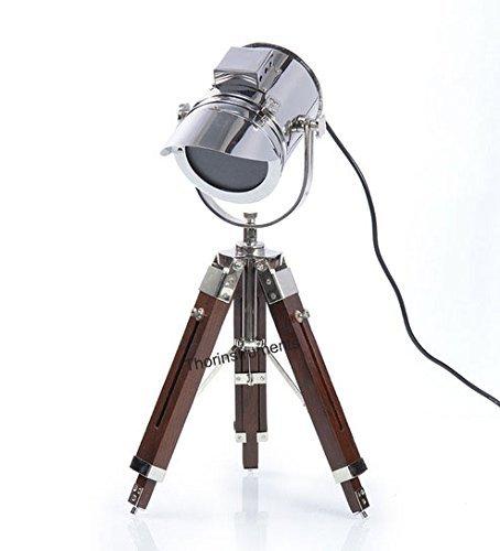 Thor Instruments. Co Designer-Lampe / Strahler, nautisches Vintage-Design, mit Stativ