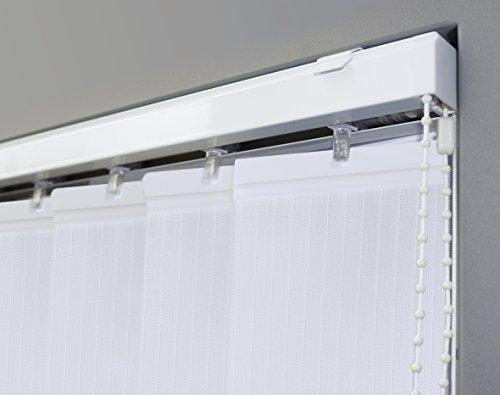 Vertikal Lamellenvorhang Farbe weiß - Breite 100 bis 250 cm - Höhe 250 cm (individuell kürzbar) Lamellenbreite 89mm (150 x 250 cm)