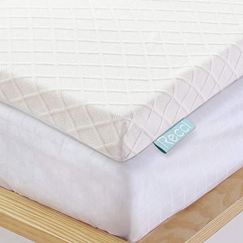 Recci 100% Reine, Originale RG50 Memory Foam Topper 140x200cm, Viskoelastische Matratzenauflagen für Boxspringbett oder als Matratzentopper für Unbequeme Doppelbetten [ 140 x 200 x 6cm ]