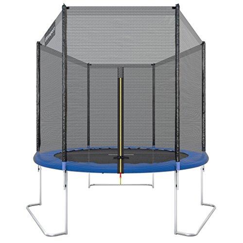 Ultrasport Outdoor Gartentrampolin Jumper, Trampolin Komplettset inklusive Sprungmatte, Sicherheitsnetz, gepolsterten Netzpfosten und Randabdeckung, bis zu 120kg, Blau, Ø 180 cm