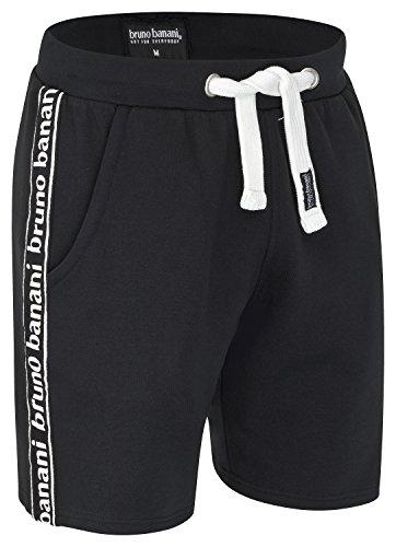 bruno banani Kurze Herren Bermuda Short/Jogginghose/Sporthose/Sweatshorts, schwarz in XL