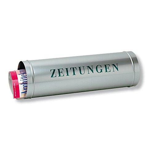 BURG-WÄCHTER, Zeitungsrolle mit Kunststoffabdeckung, verzinktem Stahl, 800 Si, Silber