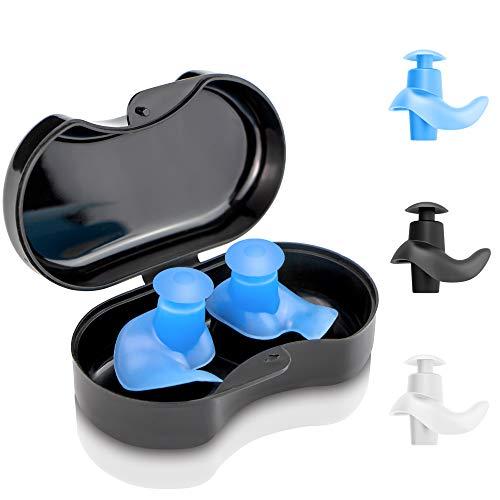 arteesol Ohrstöpsel Schwimmen - 3 Paar Wiederverwendbare weiche Silikonohrstöpsel zum Schwimmen, Duschen und für andere Wassersportarten