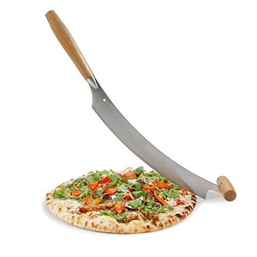 Boska 320113 Holländisches Käse-/Pizzamesser Größe L aus Eichenholz/Edelstahl, silber/braun