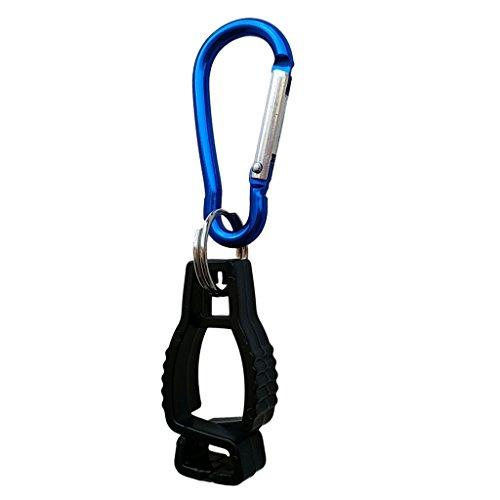 Kunststoff Handschuh-Halter Handschuhclip für Taucherhandschuhe, Arbeitshandschuhe, Golfhandschuhe, Fahrradhandschuhe - Schwarz