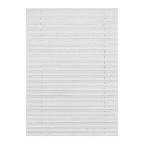 Lichtblick Dachfenster-Plissee Haftfix, 95,3 x 122 cm (B x L) in Weiß, Sicht- & Sonnenschutz-Rollo ohne Bohren, Jalousie mit Saugnäpfen, für (Dachflächen-) Fenster, Velux-kompatibel (S08/SK08)