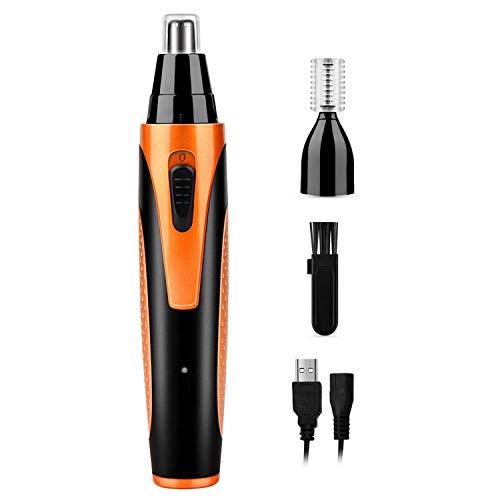 Nasenhaarschneider, 2 in 1 USB Wiederaufladbar Elektrischer Nasenhaartrimmer Ohrhaarschneider wasserabweisendem Edelstahl Haartrimmer Wet & Dry für Männer und Frauen
