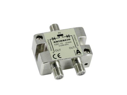 Kathrein EBC 10 2-fach-Verteiler (F-Anschluss, 5-2400 MHz, Rückweg- und UHF-tauglich, Fernspeisetauglich, Sat, TV, Kabel)