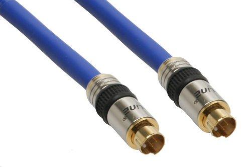 InLine 89950P Premium S-VHS Kabel (4-polig S-Video Stecker auf S-Video Stecker, 2m)