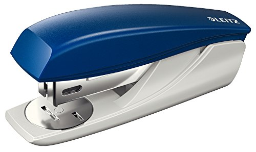 Leitz kleines Heftgerät, 25 Blatt, Blau, Ergonomisches Kunststoffgehäuse, Inkl. Heftklammern, New NeXXt, Blisterverpackung, 55010035