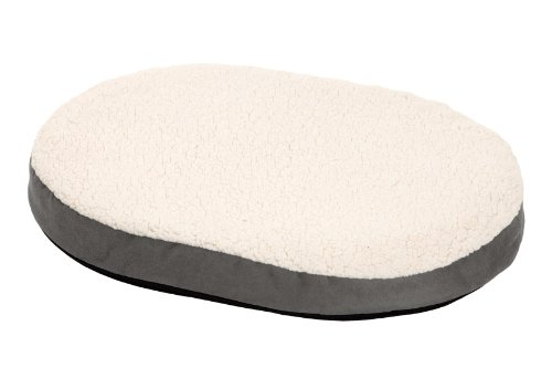 Karlie Ortho Bed, Oval Liegebett, grau 55 x 40 x 7 cm