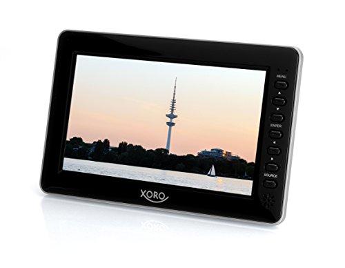 Xoro PTL 700 17.78 cm (7 Zoll) Tragbarer DVB-T2 Fernseher (H265 HEVC, Mediaplayer, USB 2.0, MicroSD, Teleskopantenne, Fernbedienung) schwarz