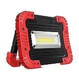 LED-Scheinwerfer tragbar 10W,750LM LED-Arbeitsleuchte Wasserdicht für eine Vielfalt an verschiedenen Räumen im Freien Klettern, Camping, Survival, Wandern, usw. (inklusive Akku 4 x AA)