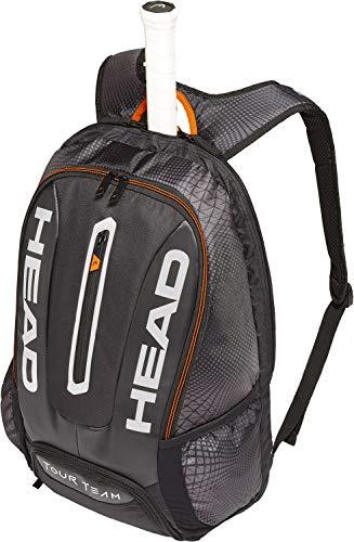 HEAD Tour Team Rucksack Tennisschlägertasche, Unisex, 283149BKSI, schwarz/Silber, Einheitsgröße