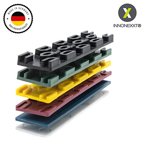 INNONEXXT Premium Verglasungsklötze | 30 x 100 mm, 400 Stück | Made in Germany | Unterlegplatten, Abstandhalter, Distanzhalter aus Kunststoff | im Set: 1, 2, 3, 4, 5, 6 mm