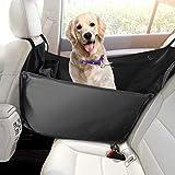 Focuspet Hunde Autositz, Einzelnsitz für Rückbank, Ideale Hund Autositzbezug für Haustier HundedeckeAuto Wasserdicht Abriebfest 53 x 60 x 35cm