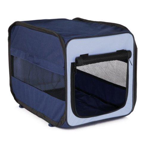 Trixie 39693 Transport-Hütte Twister, faltbar, hellblau/dunkelblau, Größe M, 50 × 52 × 76 cm