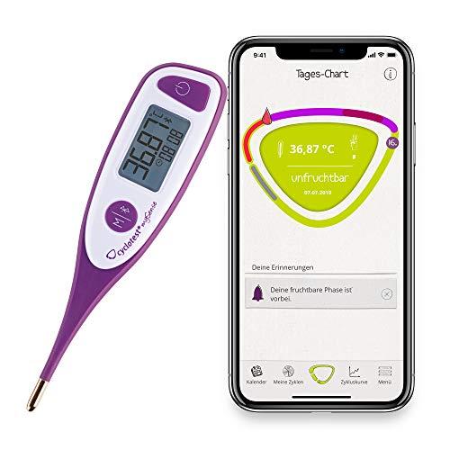 cyclotest mySense Bluetooth-Basalthermometer mit gratis Zyklus-App basierend auf der NFP-Methode für hormonfreie Verhütung & Kinderwunsch