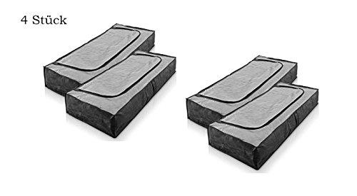 postenland 4 Stück Unterbettkommode aus Vliesstoff Unterbettbox Unterbett Aufbewahrungstasche