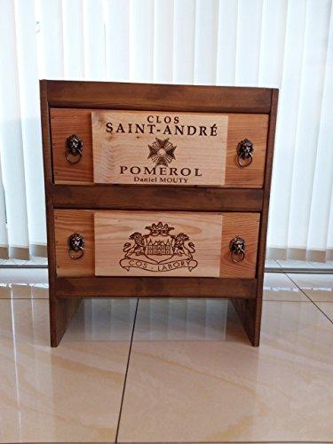 Weinmöbel 2er aus Original Weinkisten aus Bordeaux