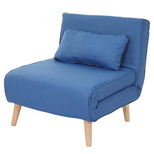 Schlafsessel HWC-D35, Schlafsofa Funktionssessel Klappsessel Relaxsessel Jugendsessel Sessel, Stoff/Textil ~ hellgrau