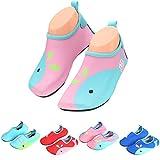 katliu Badeschuhe Wasserschuhe Strandschuhe Mädchen Jungen Schwimmschuhe Barfußschuhe Surfschuhe Kinder Baby Aqua Schuhe,Pink 27