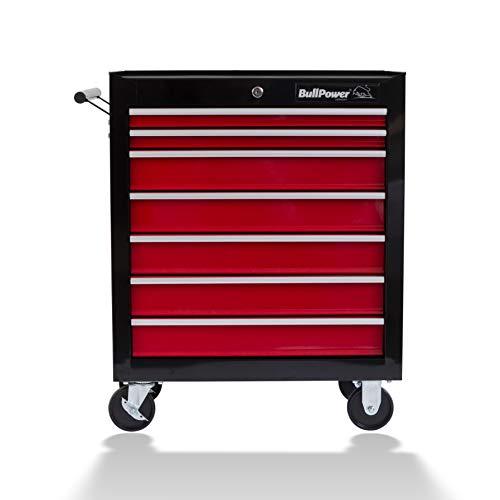 Werkstattwagen'BullPower WW-700' mit 7 ausziehbaren Schubladen, abschließbar, auf Rädern, bis maximal 60kg
