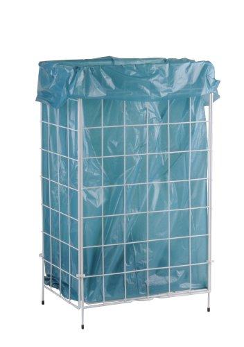 SemyTop ST-88450 Abfallkorb Zusammenlegbar, Weiß, Metall Beschichtet