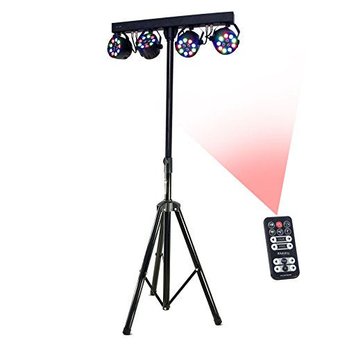 Ibiza 15-1188 Lichtstativ mit 4x 1W RGBW Par Strahlern