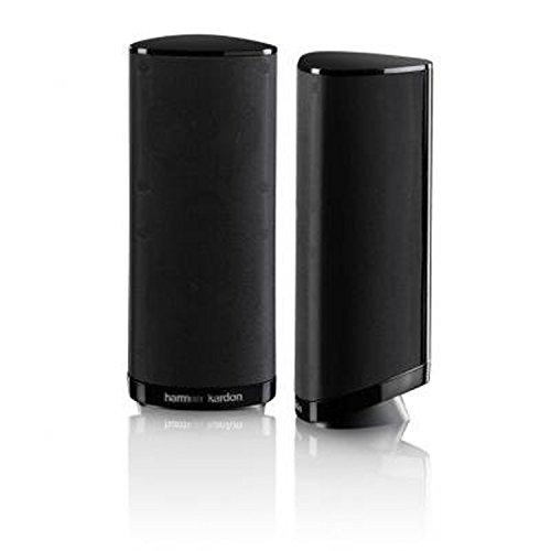 Harman-Kardon HKS 4BQ 2-Wege Audio Surroundsound Lautsprecher Heimkino Lautsprechersystem Ergänzungslautsprecher Hochglanz - Schwarz