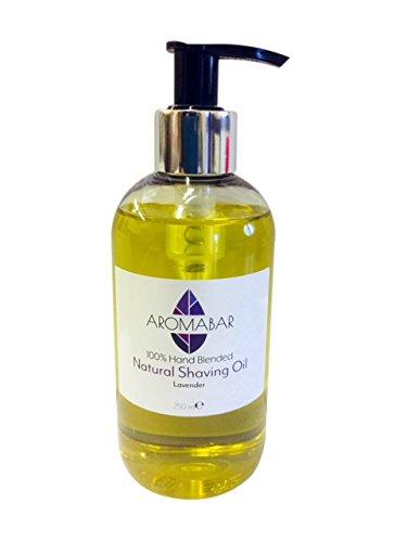 Natürliches Rasieröl mit ätherisches Lavendelöl für empfindliche haut 250ml Pumpspender