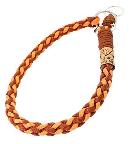Hundehalsband Mona aus Paracord, Zugstopp-Halsband, 4 Farben Kombinierbar, Individuelle Größe