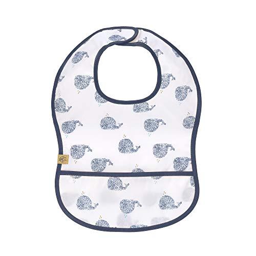 LÄSSIG Baby Kleinkind Lätzchen Auffangschutz wasserdicht Klettverschluss/EVA Bib, Little Water