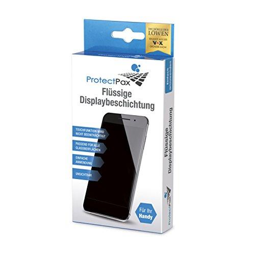 ProtectPax - Flüssige Displaybeschichtung aus die Höhle der Löwen - Single Pack 4tlg - für alle Smartphones, IPhone Samsung Nano Versiegelung – Unsichtbare Handy Folie