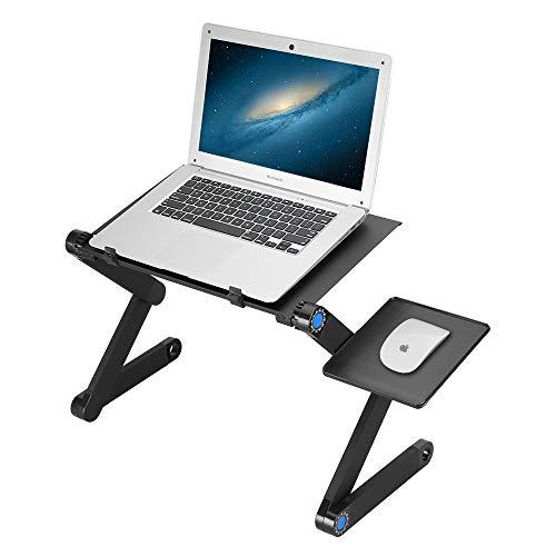 Höhenverstellbarer laptoptisch Bett Laptop Ständer verstellbar, 360° Verstellbarer Notebook StandAdjustable Laptop Table mit Ablage für die Maus, Winkel der Gelenke kann verstellt Werden