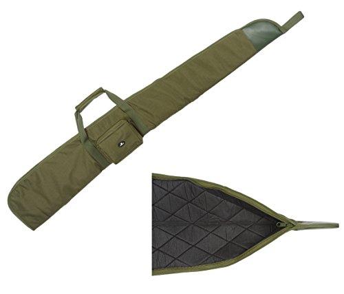 Case4Life Grün Gepolstertes Schutz Tasche für Luftgewehr/Schrotflinte / Jagdtasche + Abnehmbarer Gepolsterter Schulterriemen - Lebenslange Garantie