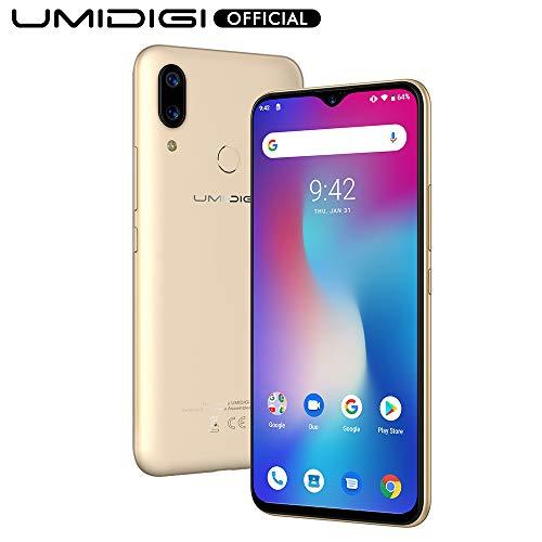UMIDIGI Power Android 9.0 Smartphone ohne Vertrag, Handy 6.3 Zoll FHD+ Waterdrop Full Screen Display, 64GB interner Speicher, 5150mAh Akku, NFC, 16MP+5MP Dual Kamera, Gold