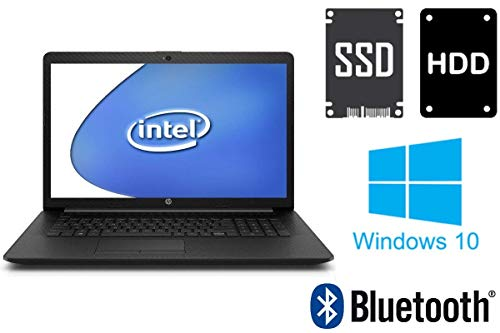 Notebook HP 17-by - 16GB RAM - 256GB SSD + 1000GB HDD - Webcam - 44 cm (17.3 Zoll) Matt - Windows 10 Pro 64BIT
