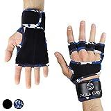 FULL GRIP Fitness-Handschuhe mit stützender Handgelenkbandage Trainingshandschuhe für Crossfit und Kraftsport mit Einer Handinnenfläche aus Leder (Carmo, L)