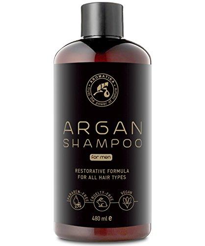 Arganöl Shampoo für Männer 480ml - mit Arganöl & Pflanzenextrakte - Argan Männer Shampoo für Haarwachstum & Volumen - Haarpflege mit Argan Shampoo