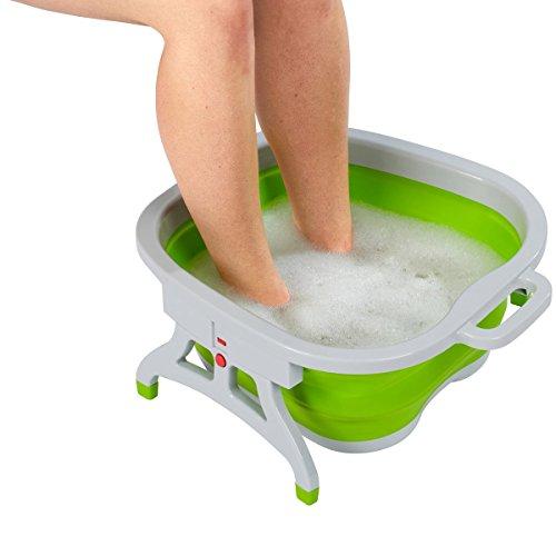 Platzspar-Fußbad, Fuß-Pflege Waschen Reinigen Pflege Pediküre Wasser Relaxen Spühlwanne Wanne Schüssel platzsparend