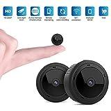 Mini Kamera,VISGOGO Full HD 1080P Tragbare Kleine Überwachungskamera, überwachungskamera mit Bewegungserkennung und Infrarot Nachtsicht, Compact Sicherheit Kamera für Innen