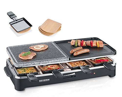 Raclette-Partygrill mit Naturgrillstein